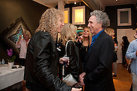 "David Bryan of Bon Jovi and Bob Gruen at the Bob Gruen ""Rock Seen"" photo exhibition at Art629 in New York City. May 4, 2012. © Kristen Driscoll/MediaPunch Inc."