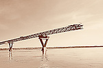 Our ongoing bridge construction across the Mackenzie River