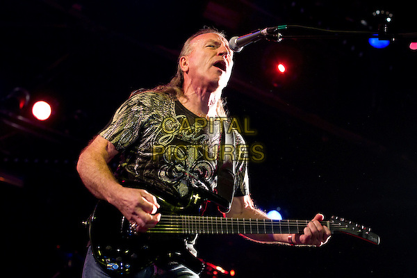 Mark Farner .In concert in Club Milk. Moscow, Russia..December 8th, 2011.on stage live gig performance performing music half length black t-shirt guitar singing.CAP/PER/SB.©SB/PersonaStars/CapitalPictures