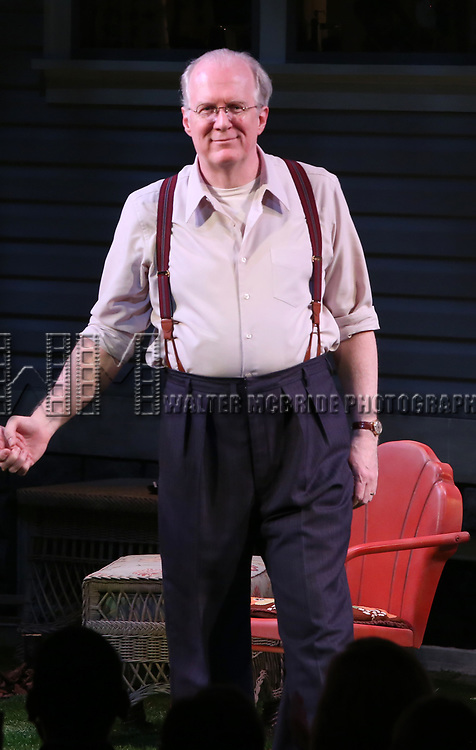 "Tracy Letts during the Broadway Opening Night Curtain Call for ""All My Sons"" at The American Airlines Theatre on April 22, 2019  in New York City."