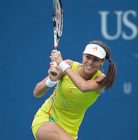 Ana Ivanovic..Tennis - US Open - Grand Slam -  New York 2012 -  Flushing Meadows - New York - USA - Monday 3rd September  2012. .© AMN Images, 30, Cleveland Street, London, W1T 4JD.Tel - +44 20 7907 6387.mfrey@advantagemedianet.com.www.amnimages.photoshelter.com.www.advantagemedianet.com.www.tennishead.net