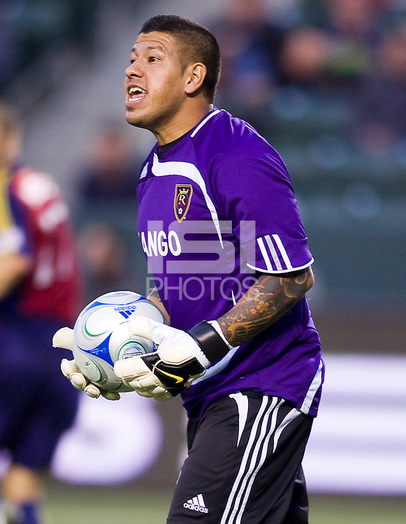 Real Salt Lake goalkeeper Nick Rimando. Real Salt Lake defeated the LA Galaxy 2-0 at Home Depot Center stadium in Carson, California on Saturday June 13, 2009.   .