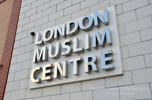 London Muslim Centre sign.