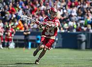 Washington, DC - March 31, 2018: Denver Pioneers Ted Sullivan (33) in action during game between Denver and Georgetown at  Cooper Field in Washington, DC.   (Photo by Elliott Brown/Media Images International)