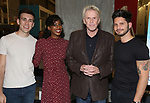 "Evan Maltby, Kim Steele, Gary Busey and Mike Squillante during the ""Only Human - A #Blessed New Musical"" Sneak Peek at The Yard Herald Square on September 17, 2019 in New York City."