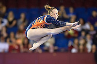 Auburn's Caitlin Atkinson competes on the balance beam during the semifinals of the NCAA women's gymnastics championships, Friday, April 17, 2015 in Fort Worth, Tex.(Mo Khursheed/TFV Media via AP Images)