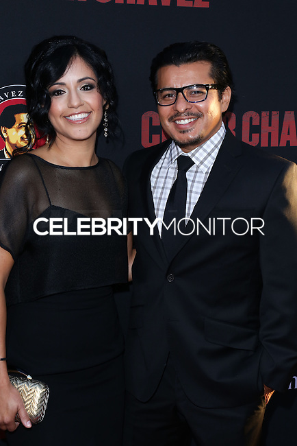 "HOLLYWOOD, LOS ANGELES, CA, USA - MARCH 20: Sylvia Arzate, Jacob Vargas at the Los Angeles Premiere Of Pantelion Films And Participant Media's ""Cesar Chavez"" held at TCL Chinese Theatre on March 20, 2014 in Hollywood, Los Angeles, California, United States. (Photo by David Acosta/Celebrity Monitor)"