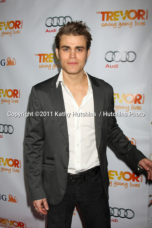 "LOS ANGELES - DEC 4:  Paul Wesley arrives at ""The Trevor Project's 2011 Trevor Live!"" at Hollywood Palladium on December 4, 2011 in Los Angeles, CA"