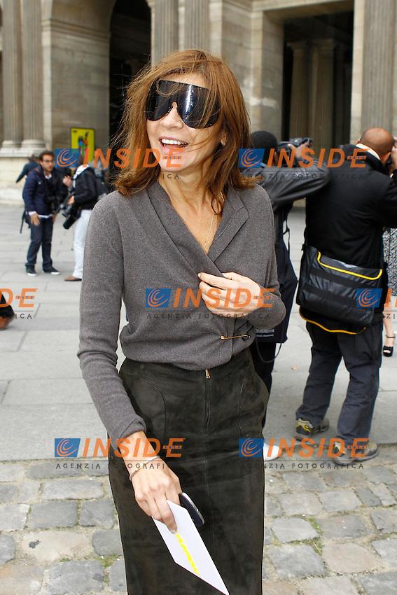 Carine Roitfeld  .Parigi 3/10/2012.Parigi Fashion Week. Ospiti alla sfilata di Louis Vuitton.Foto Gwendaline Le Goff / Panoramic / Insidefoto.ITALY ONLY