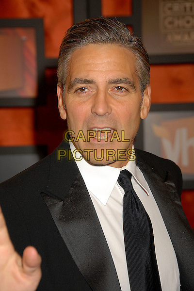 GEORGE CLOONEY.13th Annual Critics' Choice Awards at the Santa Monica Civic Auditorium, Santa Monica, California, USA, 7 January 2008..portrait headshot black tie white shirt mouth open funny.CAP/ADM/BP.©Byron Purvis/AdMedia/Capital Pictures.