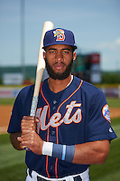 Binghamton Mets shortstop Amed Rosario (1) poses for a photo before a game against the Richmond Flying Squirrels on June 26, 2016 at NYSEG Stadium in Binghamton, New York.  Binghamton defeated Richmond 7-2.  (Mike Janes/Four Seam Images)