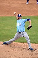 Daytona Cubs pitcher Ben Wells (33) delivers a pitch during a game against the Tampa Yankees  on April 13, 2014 at George M. Steinbrenner Field in Tampa, Florida.  Tampa defeated Daytona 7-3.  (Mike Janes/Four Seam Images)