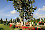 The Bahai Gardens in Acco, the Gardens surround the historic mansion where Bahá'u'lláh, the Prophet-Founder of the Bahá'í Faith, resided during the final years of His life and the shrine where His remains were laid to rest