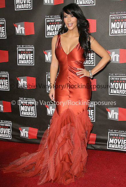 Kim Kardashian  at The16th Annual Critics' Choice Movie Awards held at The Hollywood Palladium in Hollywood, California on January 14,2011                                                                               © 2010 Hollywood Press Agency