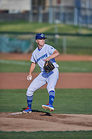 Ogden Raptors starting pitcher Kevin Malisheski (28) delivers a pitch to the plate against the Missoula Osprey at Lindquist Field on July 12, 2018 in Ogden, Utah. Missoula defeated Ogden 11-4. (Stephen Smith/Four Seam Images)