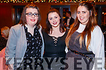 Sandra Moynihan, Shannon Leahy and Hannah Ryan, pictured at the St. Vincent De Paul Fashion Show, at Ballyroe Heights Hotel, Tralee, on Thursday, November 23rd last.