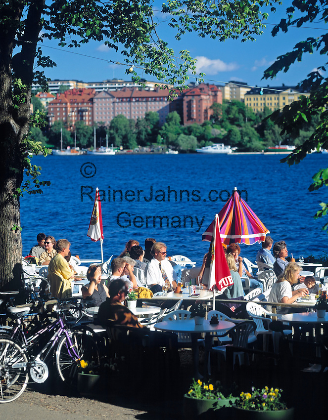 Sweden, Stockholm: cafe at Norr Malarstrand   Schweden, Stockholm: Strandcafe am Norr Malarstrand