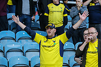 Oxford United fans celebrate at the final whistle after the Sky Bet League 1 match between Peterborough and Oxford United at the ABAX Stadium, London Road, Peterborough, England on 30 September 2017. Photo by David Horn.