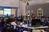 SAO PAULO, SP, 07 DE FEVEREIRO 2012 - CAMPUS PARTY  MOVIMENTACAO - Campus Party, maior evento tecnológico do Brasil, no Centro de Exposições do Anhembi, em São Paulo. No total, 7 mil pessoas devem participar das atividades previstas. (FOTO: ALEXANDRE MOREIRA - NEWS FREE).