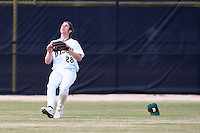 March 17, 2010:  Outfielder Eric Nutzhorn (28) of North Dakota State University Bison vs. Long Island University at Lake Myrtle Park in Auburndale, FL.  Photo By Mike Janes/Four Seam Images