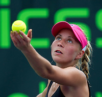 Alona BONDARENKO (UKR) against Gisela DULKO (ARG) in the second round of the women's singles. Dulko beat Bondarenko 7-5 6-2..International Tennis - 2010 ATP World Tour - Sony Ericsson Open - Crandon Park Tennis Center - Key Biscayne - Miami - Florida - USA - Thurs  25 Mar 2010..© Frey - Amn Images, Level 1, Barry House, 20-22 Worple Road, London, SW19 4DH, UK .Tel - +44 20 8947 0100.Fax -+44 20 8947 0117