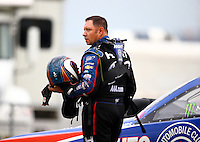 Jul 11, 2015; Joliet, IL, USA; NHRA funny car driver Robert Hight during qualifying for the Route 66 Nationals at Route 66 Raceway. Mandatory Credit: Mark J. Rebilas-USA TODAY Sports