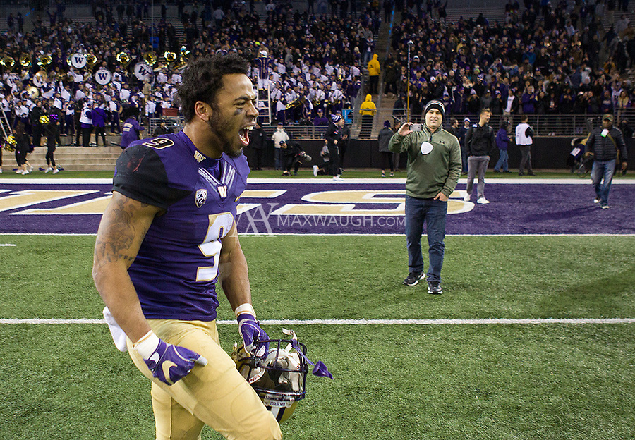 Myles Gaskin is fired up following the comeback win.