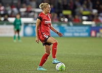 Portland, Oregon - Saturday July 9, 2016: Portland Thorns FC defender Kat Williamson (5) during a regular season National Women's Soccer League (NWSL) match at Providence Park.