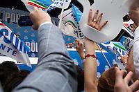 Brescia 11-05-2013: Silvio Berlusconi  durante la manifestazione organizzata dal PDL
