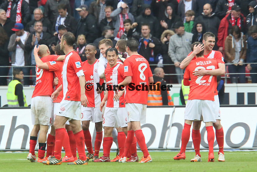 Mainz jubelt über Platz 7 - 1. FSV Mainz 05 vs. Hamburger SV, Coface Arena, 34. Spieltag