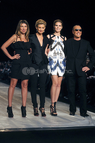 Fashion Director of Elle and Marie Claire Nina Garcia, singer Faith Hill, model Heidi Klum and Designer Michael Kors at the Project Runway Fall 2010 Fashion Show during Mercedes-Benz Fashion Week in New York City. February 12, 2010. Credit: Dennis Van Tine/MediaPunch