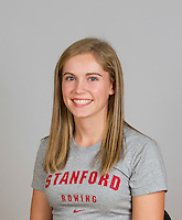Katherine Christel with Stanford women's rowing ltw team