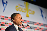 Santa Clara, CA - Tuesday, March 07, 2017: Cobi Jones during the unveiling of the CONCACAF 2017 Gold Cup Groups & Schedule at Levi's Stadium.