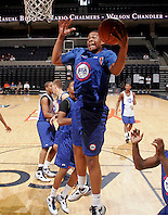 Jabari Parker at the NBPA Top100 camp June 18, 2010 at the John Paul Jones Arena in Charlottesville, VA. Visit www.nbpatop100.blogspot.com for more photos. (Photo © Andrew Shurtleff)