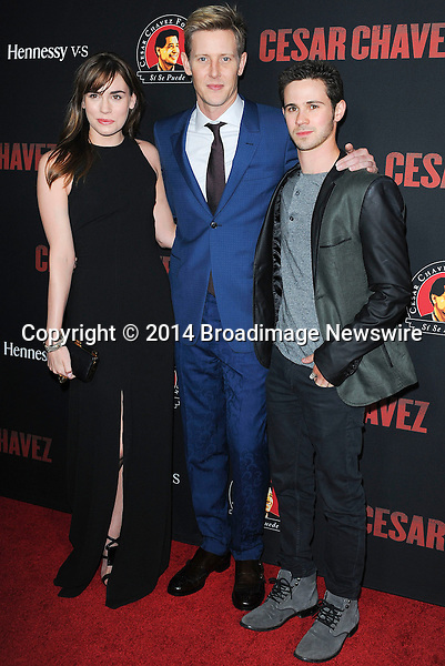Pictured: Christa B. Allen, Gabriel Mann, Connon Paolo<br /> Mandatory Credit &copy; Adhemar Sburlati/Broadimage<br /> Film Premiere of Cesar Chavez<br /> <br /> 3/20/14, Hollywood, California, United States of America<br /> <br /> Broadimage Newswire<br /> Los Angeles 1+  (310) 301-1027<br /> New York      1+  (646) 827-9134<br /> sales@broadimage.com<br /> http://www.broadimage.com