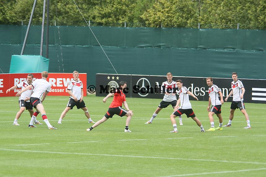 Aufwärmtraining - Training der Deutschen Nationalmannschaft im Rahmen der WM-Vorbereitung in St. Martin