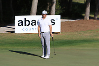 Ross McGowan (ENG) on the 14th green during Round 3 of the Challenge Tour Grand Final 2019 at Club de Golf Alcanada, Port d'Alcúdia, Mallorca, Spain on Saturday 9th November 2019.<br /> Picture:  Thos Caffrey / Golffile<br /> <br /> All photo usage must carry mandatory copyright credit (© Golffile | Thos Caffrey)