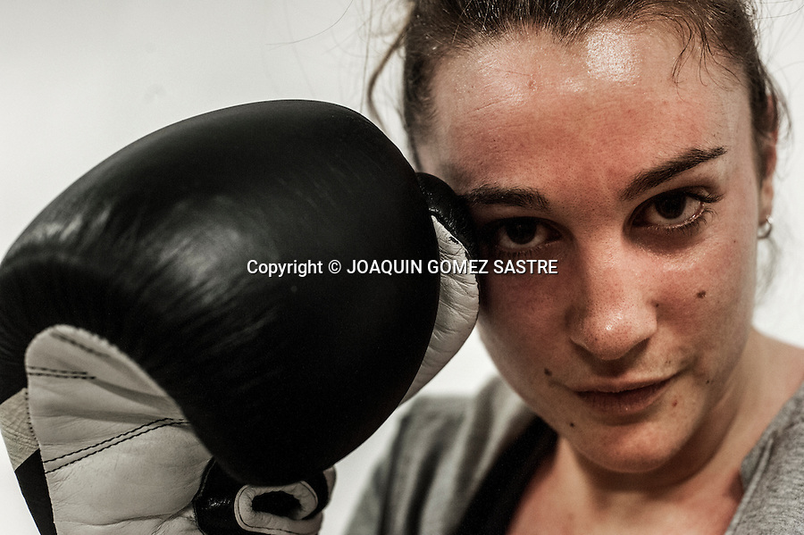 Portrait of amateur boxer Alba Santos