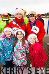 Aoife Moynihan, Majella Moynihan, Maire Engal, Noreen Lynch and Aisling Tansley, pictured at the Santa 5k run which took place at Tralee Wetlands Centre on Sunday.