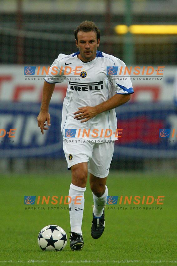 Milano 27/7/2004 Trofeo Tim - Tim tournament <br /> <br /> Cristiano Zanetti Inter<br /> <br /> <br /> <br /> Inter Milan Juventus <br /> <br /> Inter - Juventus 1-0<br /> <br /> Milan - Juventus 2-0<br /> <br /> Inter - Milan 5-4 d.cr - penalt.<br /> <br /> <br /> <br /> Photo Andrea Staccioli Insidefoto