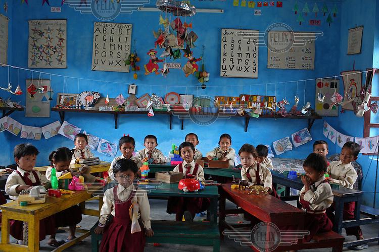 Children at school in Kathmandu.