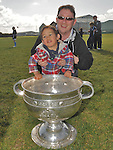 Alex and Roger Connor pictured with the Sam Maguire cup at Newtown Blues GAA club. Photo: Colin Bell/pressphotos.ie