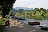 L'argine dell'Adda a Brivio....Bank of the Adda river in Brivio