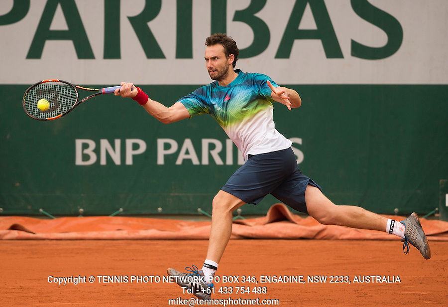 ERNESTS GULBIS (LAT)<br /> <br /> TENNIS - FRENCH OPEN - ROLAND GARROS - ATP - WTA - ITF - GRAND SLAM - CHAMPIONSHIPS - PARIS - FRANCE - 2016  <br /> <br /> <br /> <br /> &copy; TENNIS PHOTO NETWORK