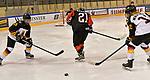 09.01.2020, BLZ Arena, Füssen / Fuessen, GER, IIHF Ice Hockey U18 Women's World Championship DIV I Group A, <br /> Japan (JPN) vs Deutschland (GER), <br /> im Bild Marin Nagaoka (JPN, #21) verliert die Scheibe an Joyce König / Koenig (GER, #18) und Leonie Massner (GER, #12) <br /> <br /> Foto © nordphoto / Hafner