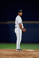 Akron RubberDucks pitcher Anthony Gose (15) during an Eastern League game against the Reading Fightin Phils on June 4, 2019 at Canal Park in Akron, Ohio.  Akron defeated Reading 8-5.  (Mike Janes/Four Seam Images)