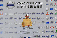 Alexander Bj&ouml;rk (SWE) at the prize giving ceremony after the final round of the Volvo China Open played at Topwin Golf and Country Club, Huairou, Beijing, China 26-29 April 2018.<br /> 29/04/2018.<br /> Picture: Golffile | Phil Inglis<br /> <br /> <br /> All photo usage must carry mandatory copyright credit (&copy; Golffile | Phil Inglis)