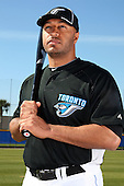 March 1, 2010:  Outfielder Vernon Wells (10) of the Toronto Blue Jays poses for a photo during media day at Englebert Complex in Dunedin, FL.  Photo By Mike Janes/Four Seam Images