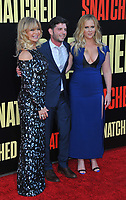 www.acepixs.com<br /> <br /> May 10 2017, LA<br /> <br /> (L-R) Goldie Hawn, Jonathan Levine and Amy Schumer arriving at the premiere of 'Snatched' at the Regency Village Theatre on May 10, 2017 in Westwood, California<br /> <br /> By Line: Peter West/ACE Pictures<br /> <br /> <br /> ACE Pictures Inc<br /> Tel: 6467670430<br /> Email: info@acepixs.com<br /> www.acepixs.com