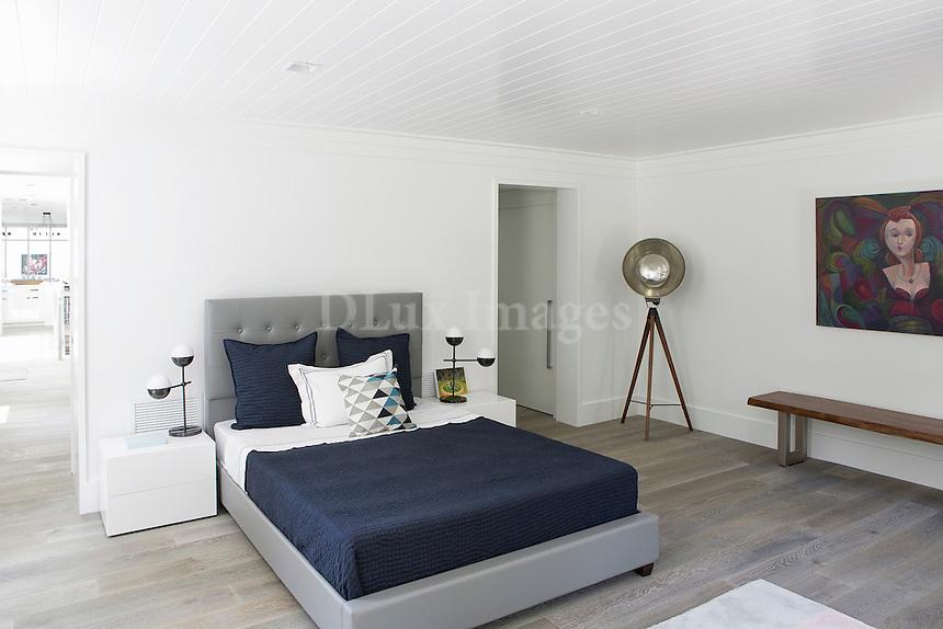 Modern gray bed